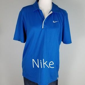NIKE MEN'S POLO TOP IN BLUE, SIZE LARGE